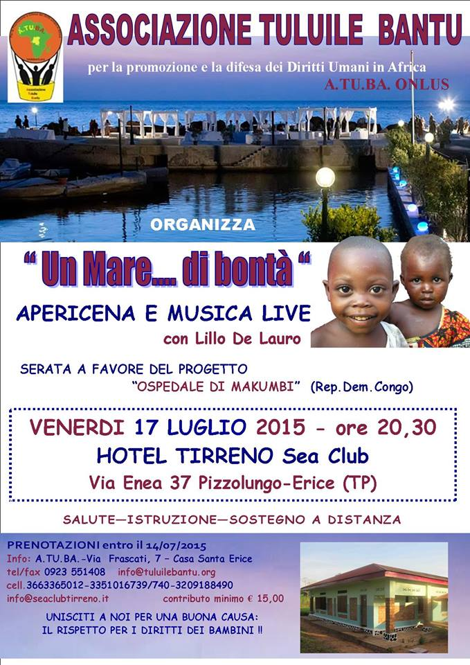 LOCANDINA SERATA ATUBA- HOTEL TIRRENO